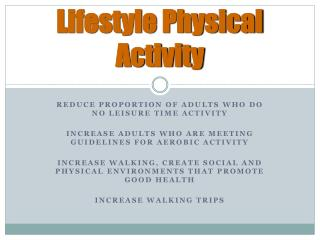 Lifestyle Physical Activity