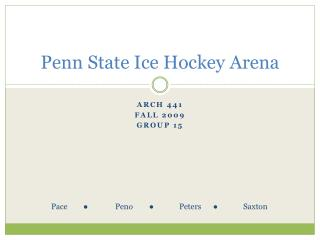 Penn State Ice Hockey Arena