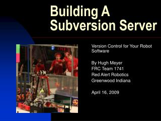Building A Subversion Server