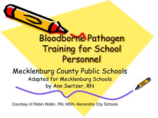 Bloodborne Pathogen Training for School Personnel