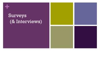 Surveys  (& Interviews)