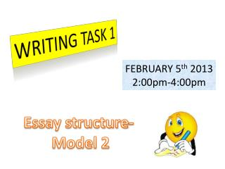 Essay structure-  Model 2