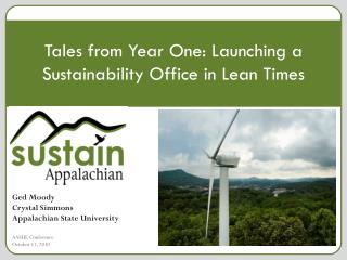 Tales from Year One: Launching a Sustainability Office in Lean Times