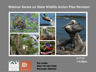 Webinar Series on State Wildlife Action Plan Revision