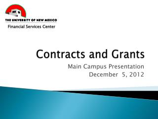 Contracts and Grants