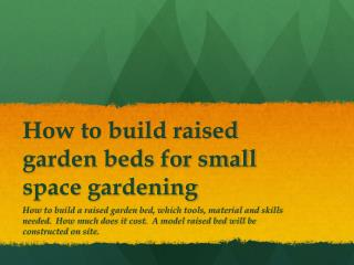 How to build raised garden beds for small space gardening