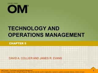 TECHNOLOGY AND OPERATIONS MANAGEMENT