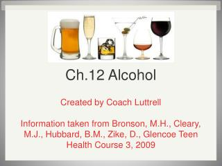 Ch.12 Alcohol