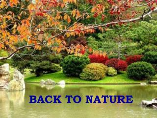 BACK TO NATURE