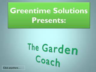 Greentime Solutions Presents: