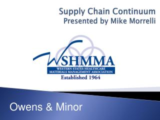 Supply Chain Continuum Presented by Mike Morrelli