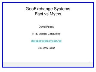 GeoExchange  Systems Fact  vs  Myths
