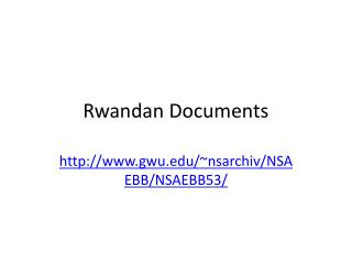 Rwandan Documents