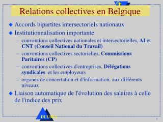 Relations collectives en Belgique