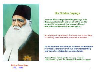 Sir Syed Ahmed Khan ( 1817 - 1898 )