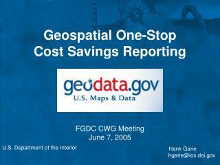 FGDC CWG Meeting June 7, 2005