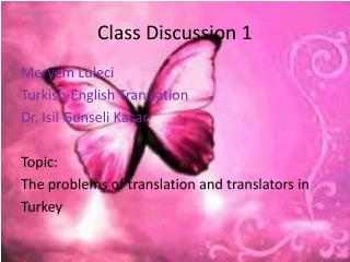 Class Discussion 1
