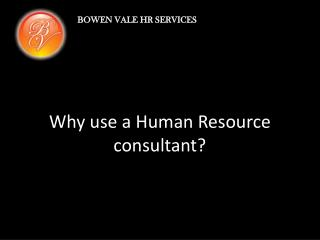 Why use a Human Resource consultant?