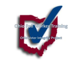 Ohio Poll Worker Training