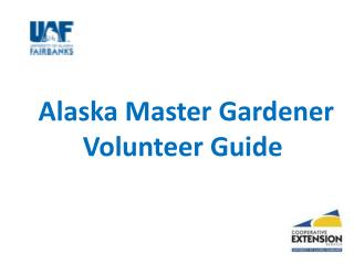 Alaska Master Gardener Volunteer Guide
