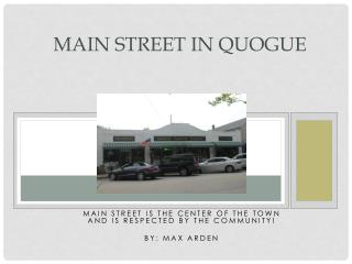 Main Street in Quogue