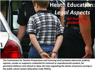 Heath Education:  Legal Aspects