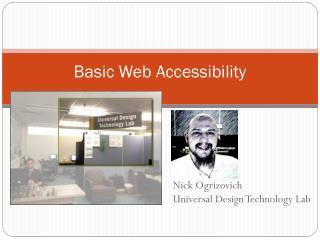 Basic Web Accessibility