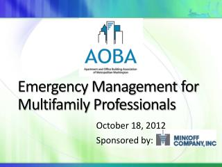 Emergency Management for Multifamily Professionals