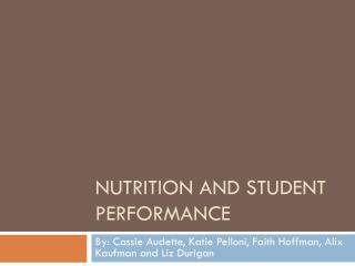 Nutrition and student performance
