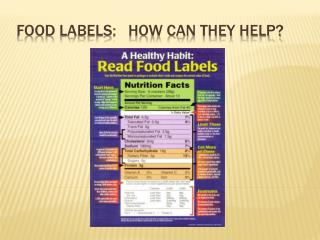 Food labels:   How Can They Help?