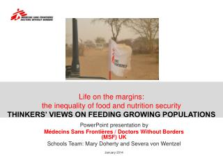 Life on the margins:  the inequality of food and nutrition security THINKERS' VIEWS ON FEEDING GROWING POPULATIONS