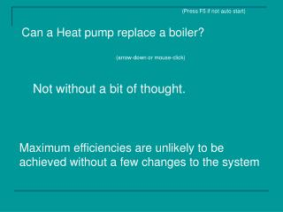 Can a Heat pump replace a boiler?