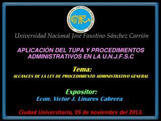 Universidad Nacional José Faustino Sánchez Carrión