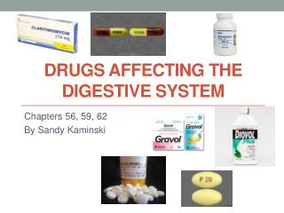 Drugs Affecting the digestive system
