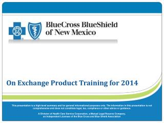On Exchange Product Training for 2014