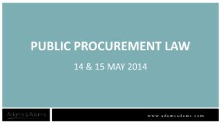 PUBLIC PROCUREMENT LAW 14 & 15 MAY 2014