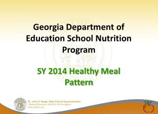 Georgia Department of Education School Nutrition Program