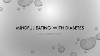 Mindful Eating with Diabetes
