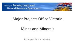 Major Projects  Office  Victoria Mines and Minerals