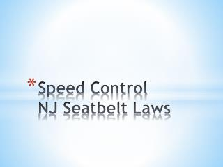 Speed Control NJ Seatbelt Laws