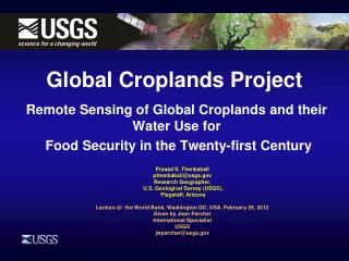 Global Croplands Project