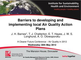 Barriers to developing and implementing local Air Quality Action Plans