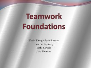 Teamwork Foundations