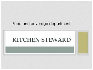 Kitchen Steward