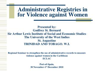 Administrative Registries  in  for Violence  against Women
