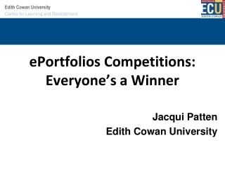 ePortfolios  Competitions: Everyone's a Winner