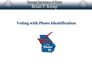 Voting with Photo Identification