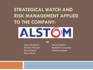 Strategical watch and risk management applied to the company: