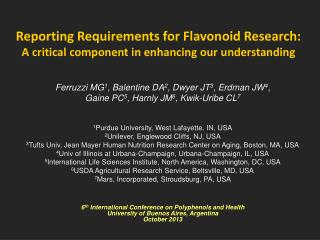 Reporting Requirements for Flavonoid Research:  A  critical component in enhancing our  understanding