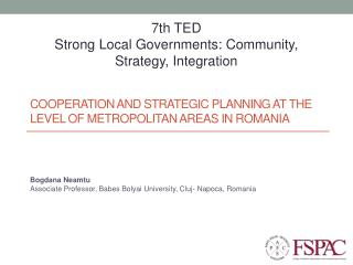 Cooperation and strategic planning at the level of metropolitan areas in Romania